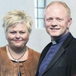 Prestshjónin Jóna Hrönn Bolladóttir og Bjarn Karlsson.