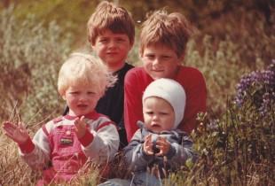 Börnin fjögur árið 1985