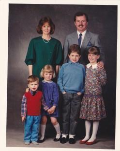 Fjölskyldan árið 1988