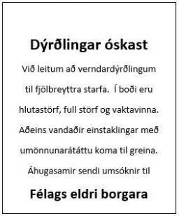 Dýrðlingar óskast