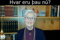 Gerður G. Bjarklind þulur