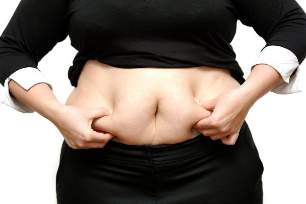 diet, dieting, Overweight lady holding stomach